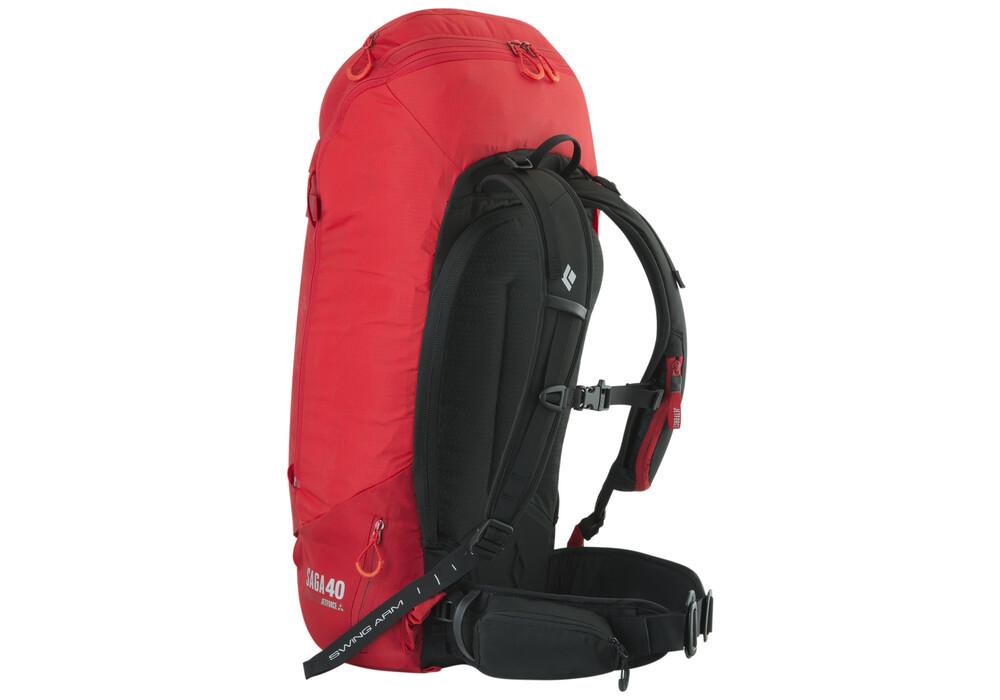 Black Diamond Saga 40 Avalanche Backpack Jetforce Red At